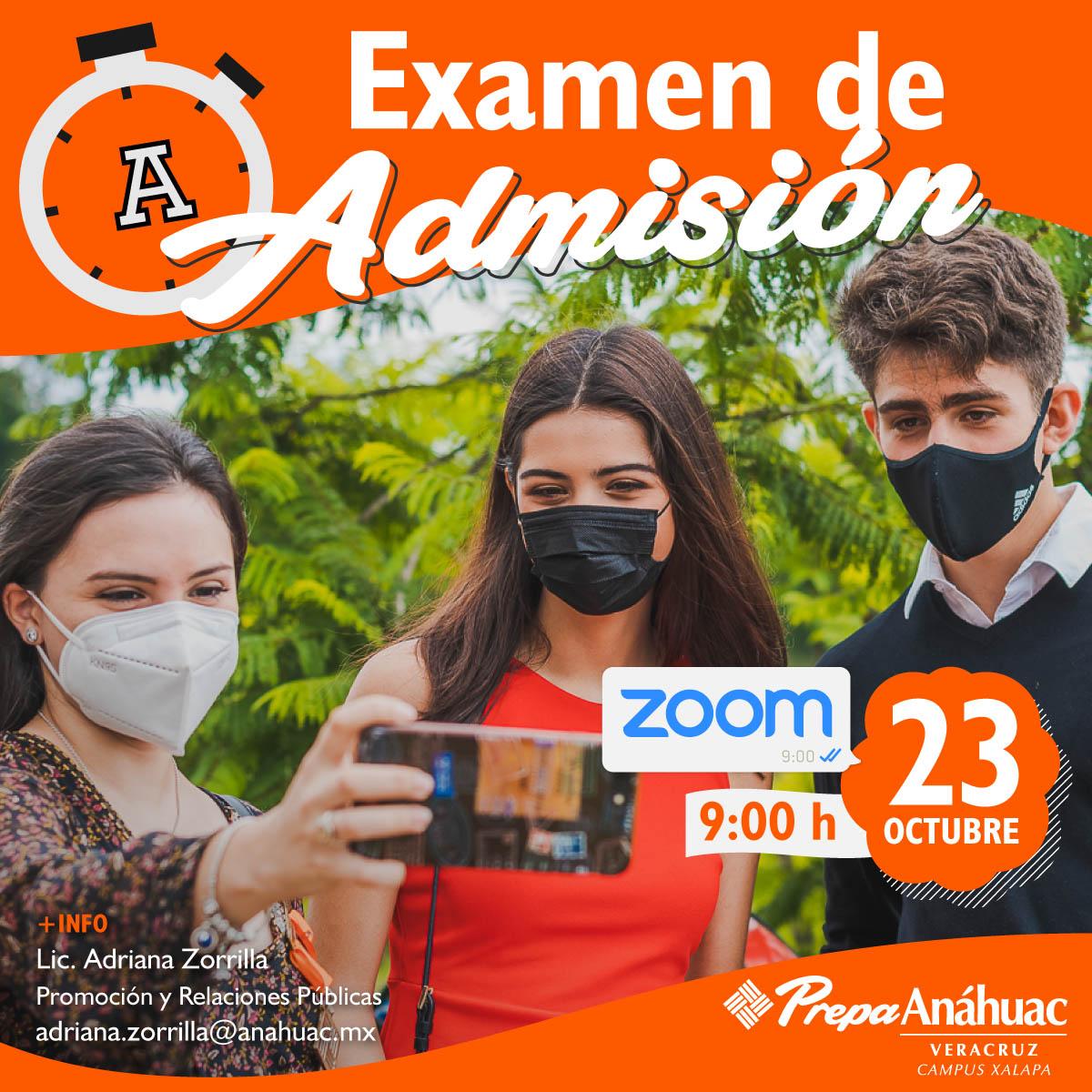 Examen de Admisión Online Campus Xalapa