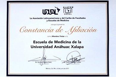 Escuela de Medicina recibe constancia como Miembro Titular de la ALAFEM