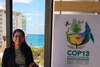 Alumna de Negocios Internacionales en la Conferencia COP13 de la ONU