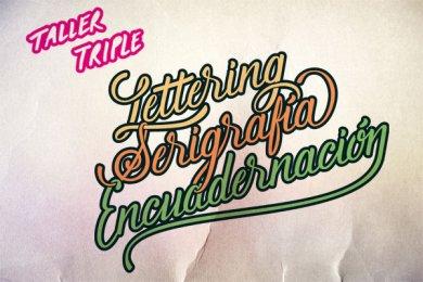 Taller triple: Lettering, Serigrafía y Encuadernación