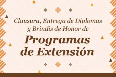 Clausura de Programas de Extensión