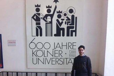 Alumno de Derecho de intercambio en la Universidad de Colonia