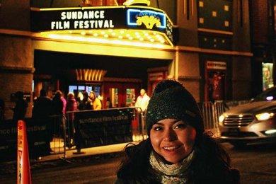 Alumna de Entretenimiento voluntaria en el Festival Sundance