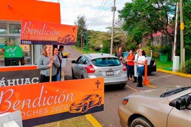 Primera Jornada de Bendición de Coches en la Anáhuac